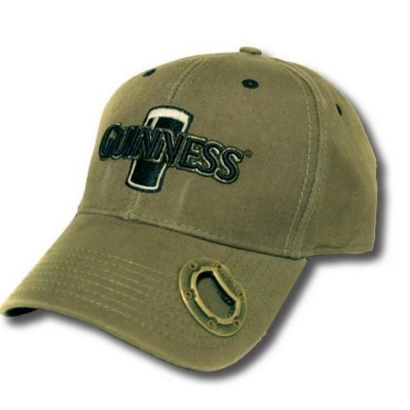 99888b07f Rare Guinness Green Bottle Opener Cap Baseball Hat
